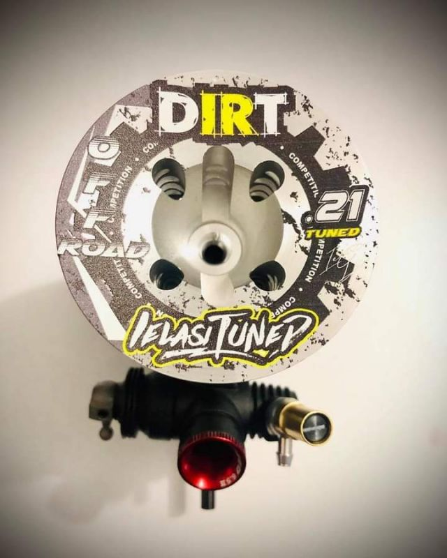 IELASI TUNED DIRT .21 O.S. 1:8 Buggy Motor + Reso EFRA-2108 Set