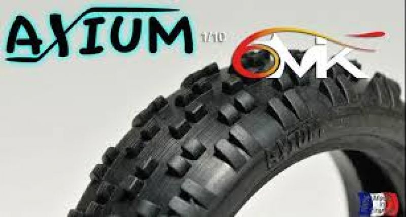 6MIK Axium 2WD Frontreifen 1/10 Indoor # blau-medium-2St.