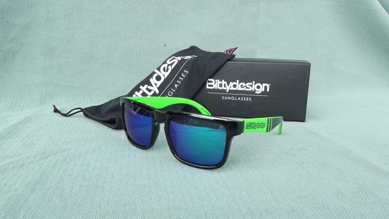 BITTYDESIGN VENOM CLAYMORE SUNGLASSES (GREEN FRAME,GREEN MIRROR LENS)