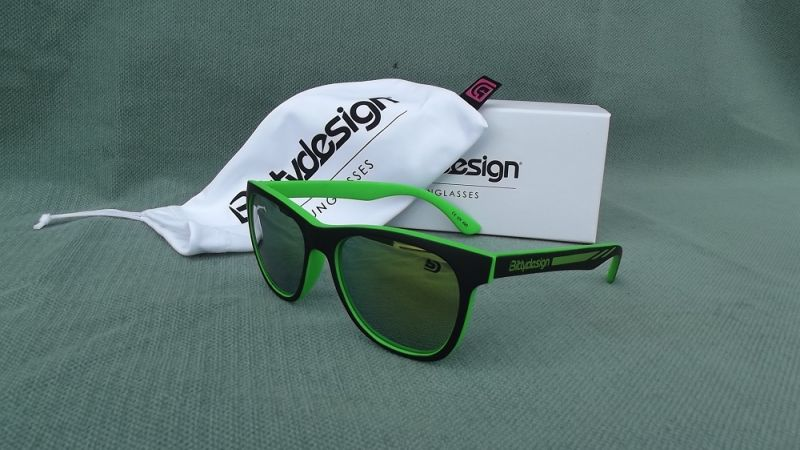 BITTYDESIGN VENICE PURE SUNGLASSES (GREEN FRAME,GREEN MIRROR LENS)