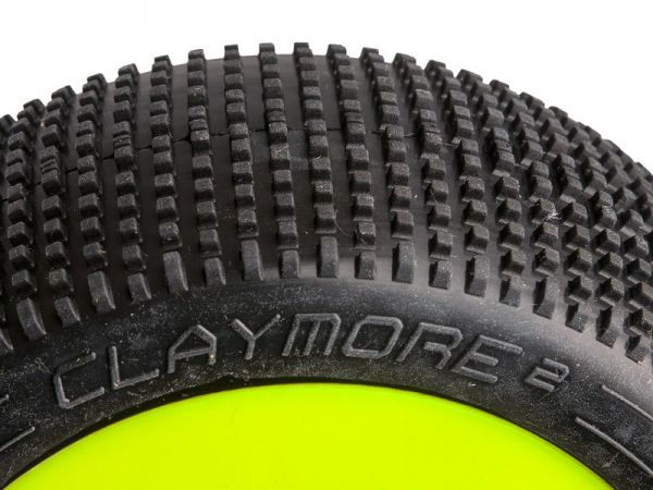 Procircuit Komplettrad CLAYMORE V2 1:8 Buggy RC Reifen # C2 Soft