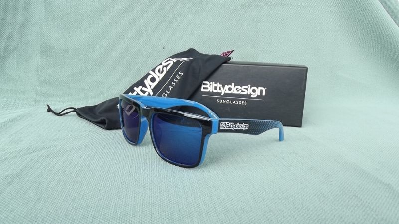 BITTYDESIGN OCEAN CLAYMORE SUNGLASSES (BLUE FRAME,BLUE MIRROR LENS)
