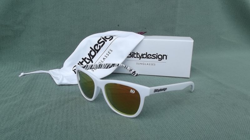 BITTYDESIGN VENICE SAVANA SUNGLASSES (WHITE FRAME,RED MIRROR LENS)